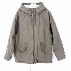 TNA Aritzia Faux Fur Lined Hooded Winter Jacket